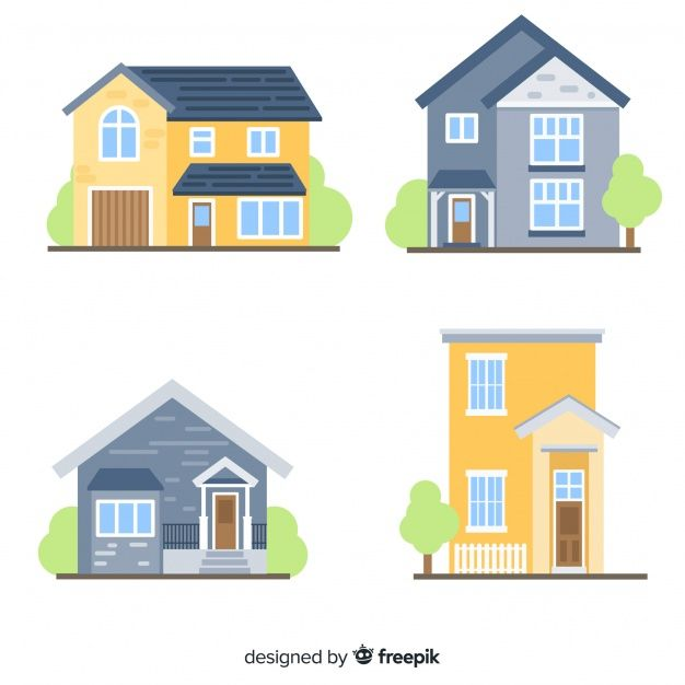 Beautiful houses set Free Vector   Shriners Hospital in 2019 ... on map of town and country, map of people, map of sunset, map of new york, map of hearst corporation, map of victoria, map of southern accents,