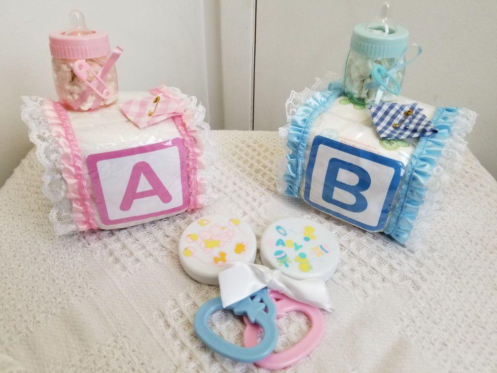 Details about Alphabet Baby Block Fill Bottle Diaper Cake