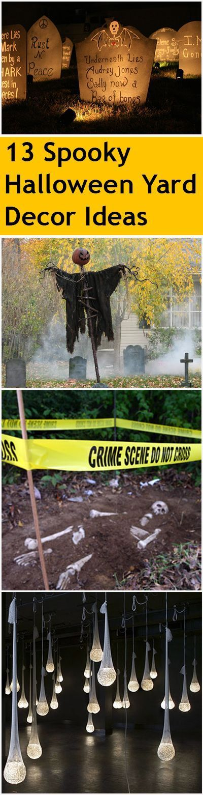 13 Spooky Halloween Yard Decor Ideas Spooky halloween and - homemade halloween decoration ideas for yard