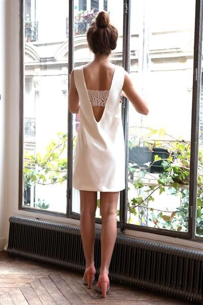 robe mariage civil la ligne blanche l 39 amus e paris. Black Bedroom Furniture Sets. Home Design Ideas