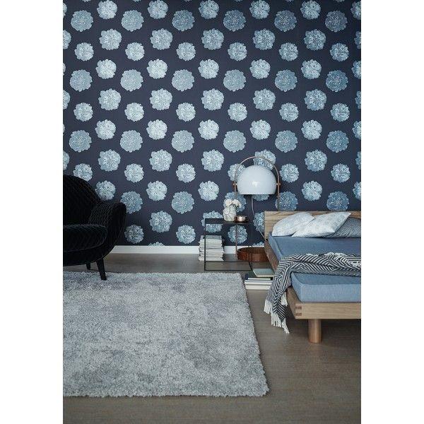 Grosses fleurs paillettes bleu nuit - Collection Schoner Wohnen 9 d