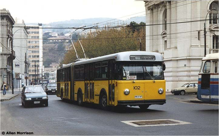 The Trolleybuses of Valparaíso