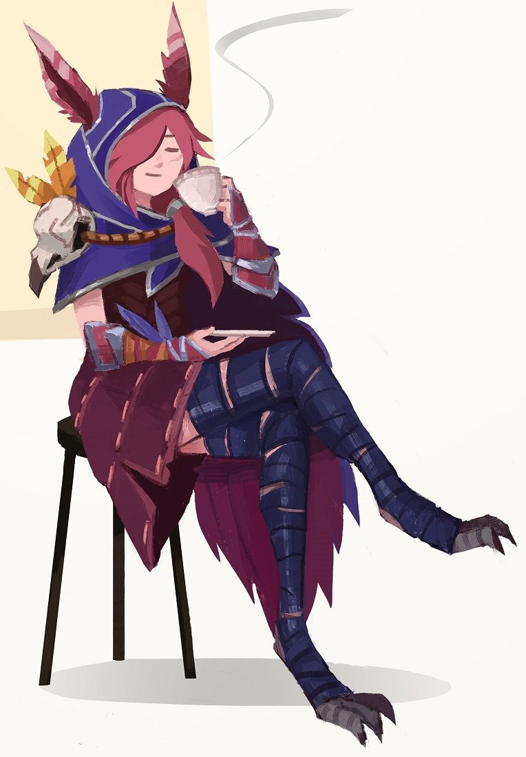 Xayah by gel9 my league garbage in 2019 league of - Dbz fantasy anime ...