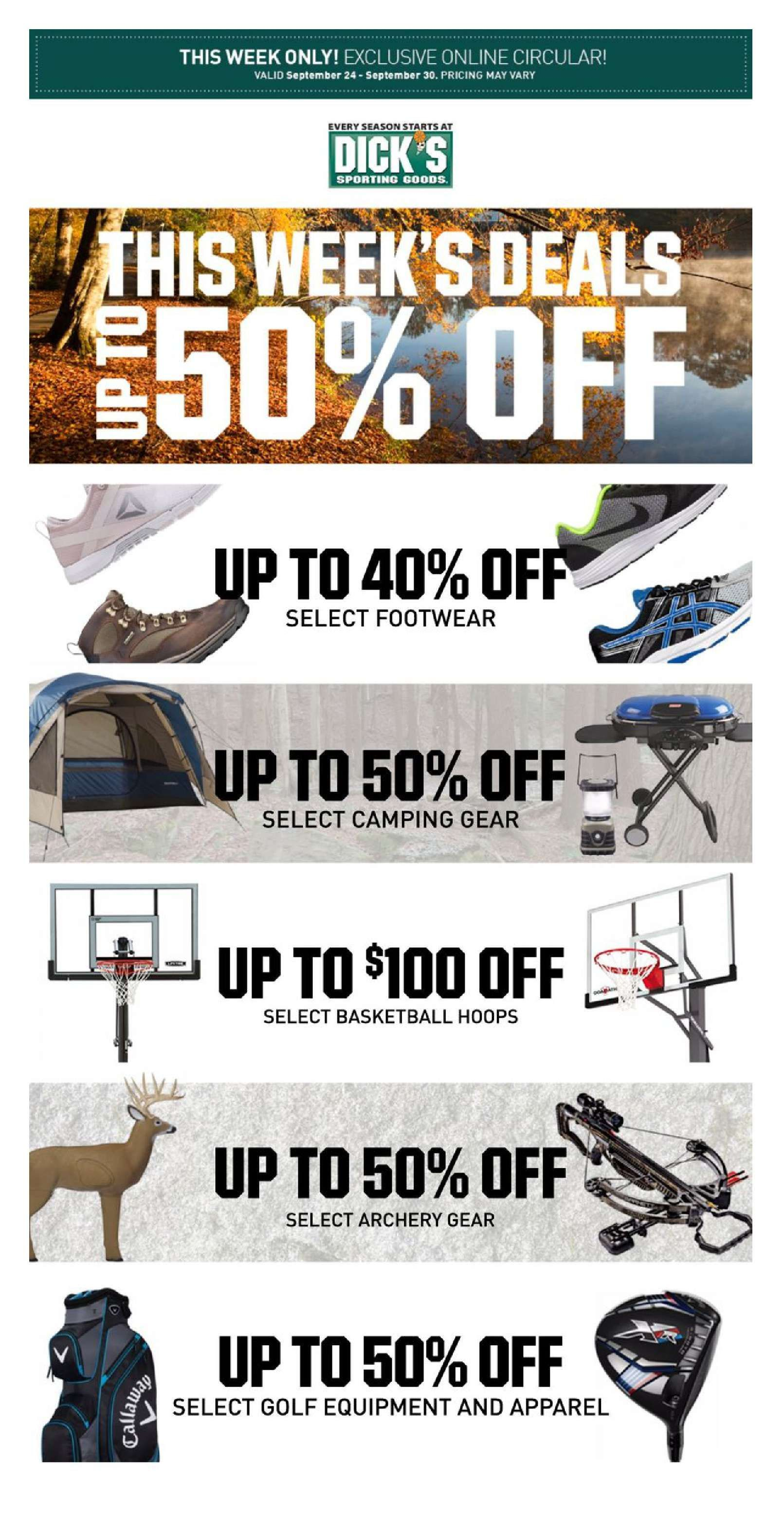 Dick sporting goods weekly ad — pic 15
