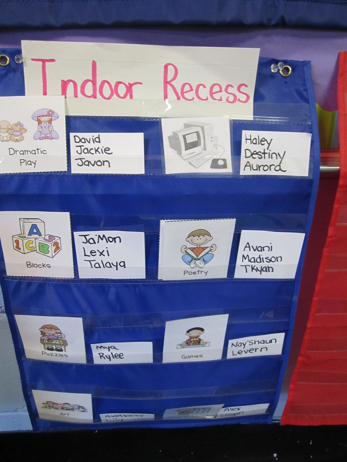 Genius idea for indoor recess! classroom management