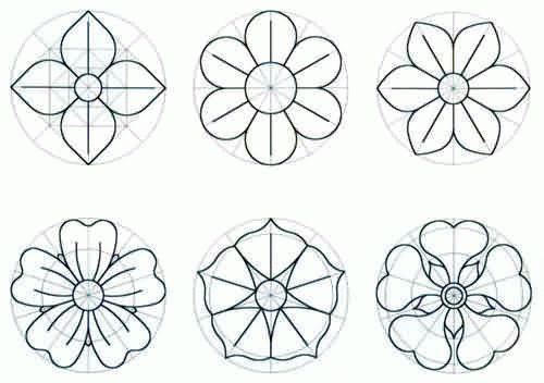 Modelos De Flores Para Imprimir Modelos De Flor Fazer Flores De