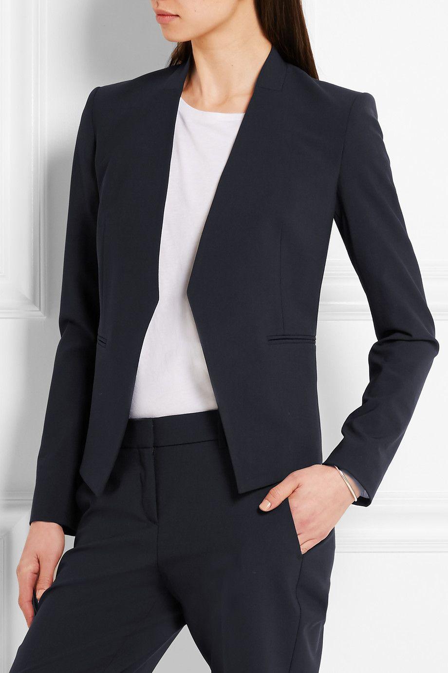 164b2b2135 Theory - Lanai stretch-wool crepe blazer | fashion | Blazer, Wool ...