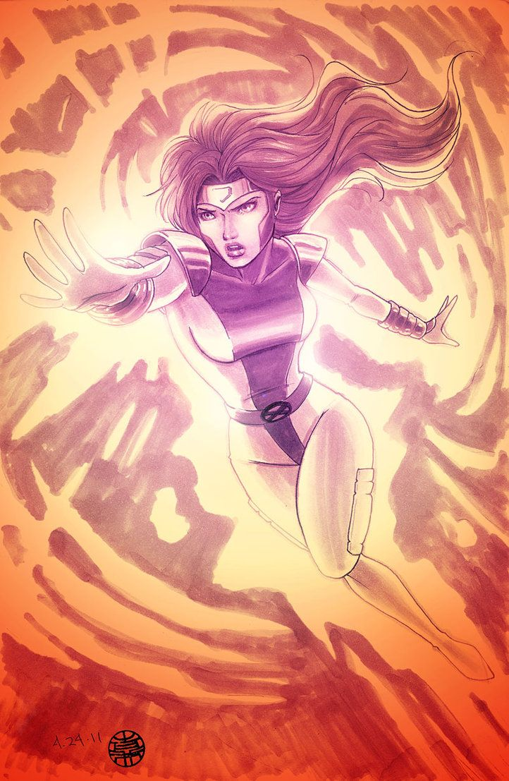 Jean Grey playing with fire.