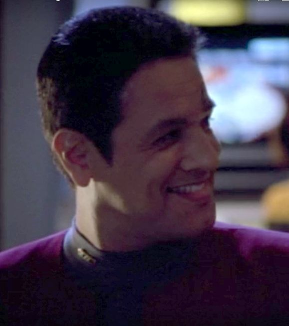 Chakotay in Eulogium when Janeway tells him that she'll come to him for mating advice in the future.