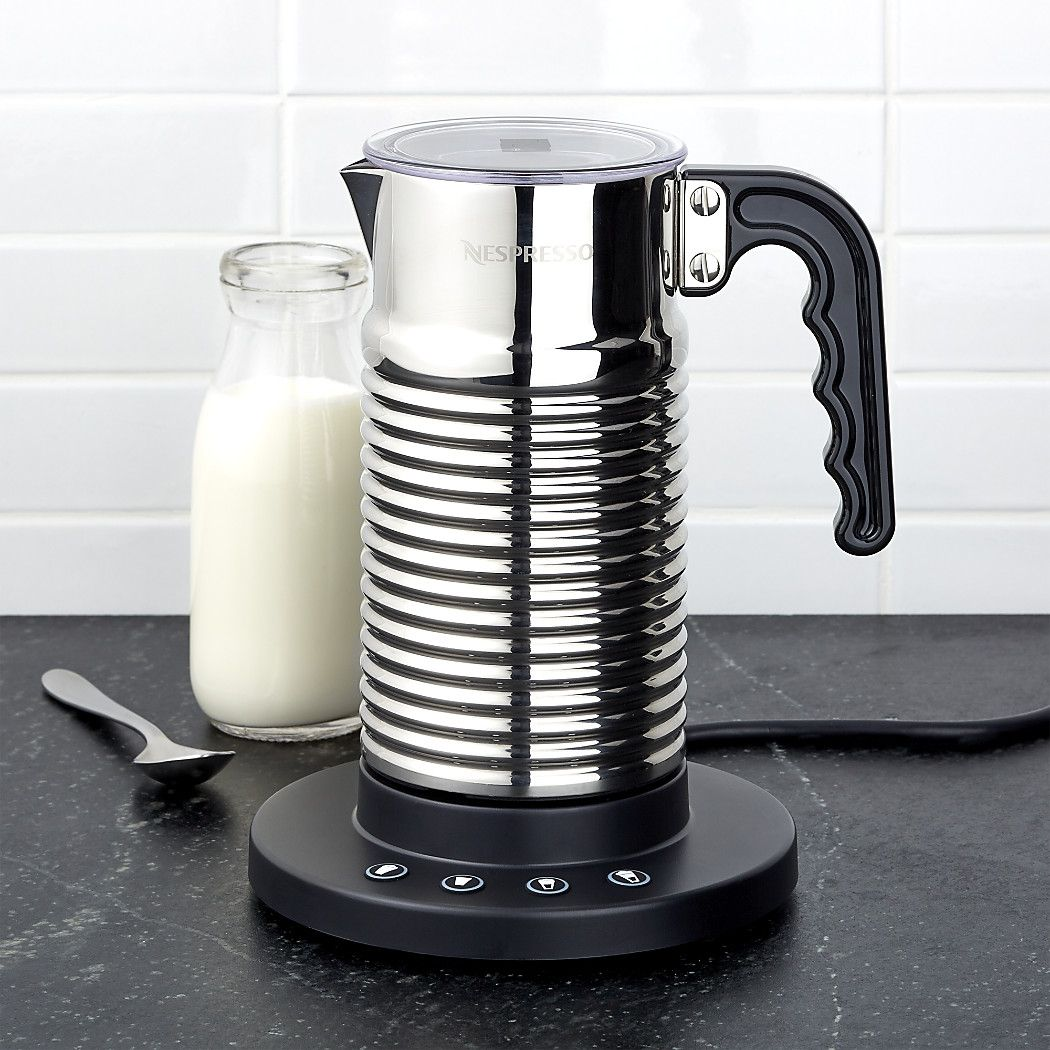 Nespresso Aeroccino 4 Frother Reviews Crate And Barrel Coffee And Tea Accessories