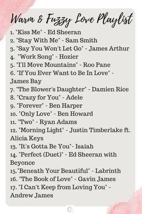 Warm Fuzzy Love Playlist Love Songs Playlist Music Playlist Playlist