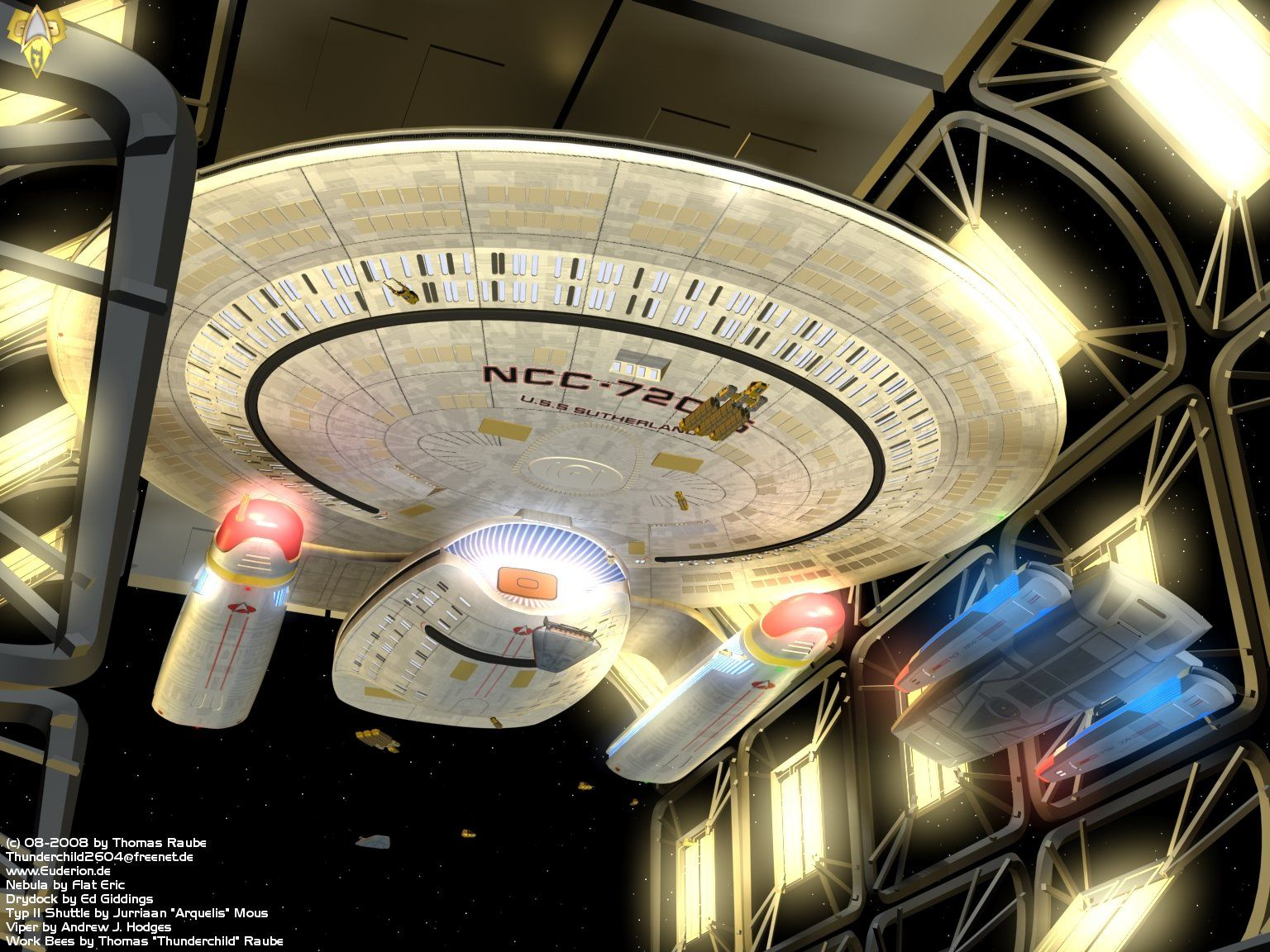 Image result for nebula class starship in dock