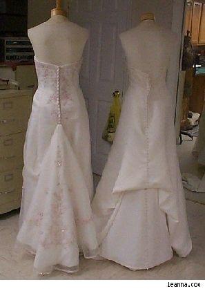 how to make a bustle on a wedding gown | Birmingham Al Weddings ...