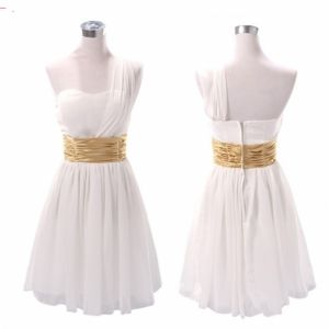 New Chiffon Sexy One Shoulder Formal Prom Dresses Party Bridesmaid Evening Gowns