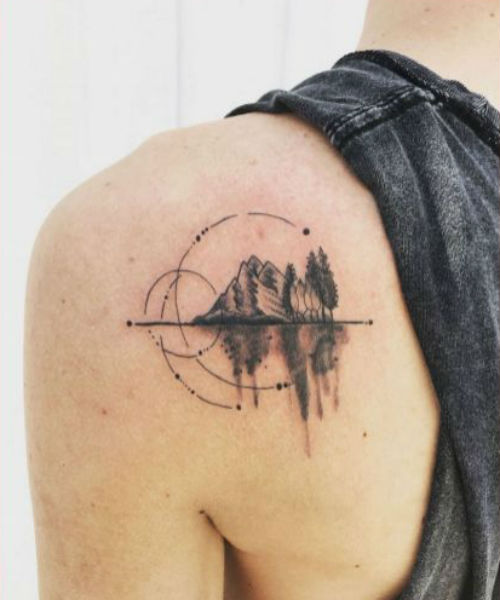 Favourite Nature Tattoo Designs For Shoulder To Inspire You Styles Beat Tattoos Geometric Tattoo Tattoo Designs