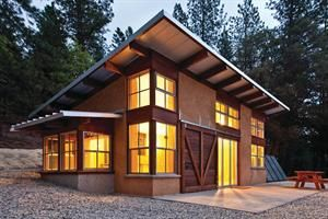 An Energy Efficient Low Maintenance Building Shell And Both Passive And Active Solar Energy Systems Yield A Build House Roof Building A House Straw Bale House
