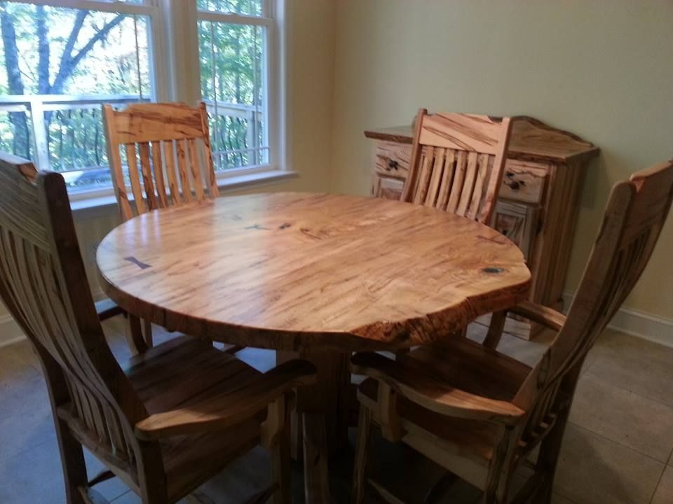 Nice Room · Custom Made Round Ambrosia Maple Dining Table