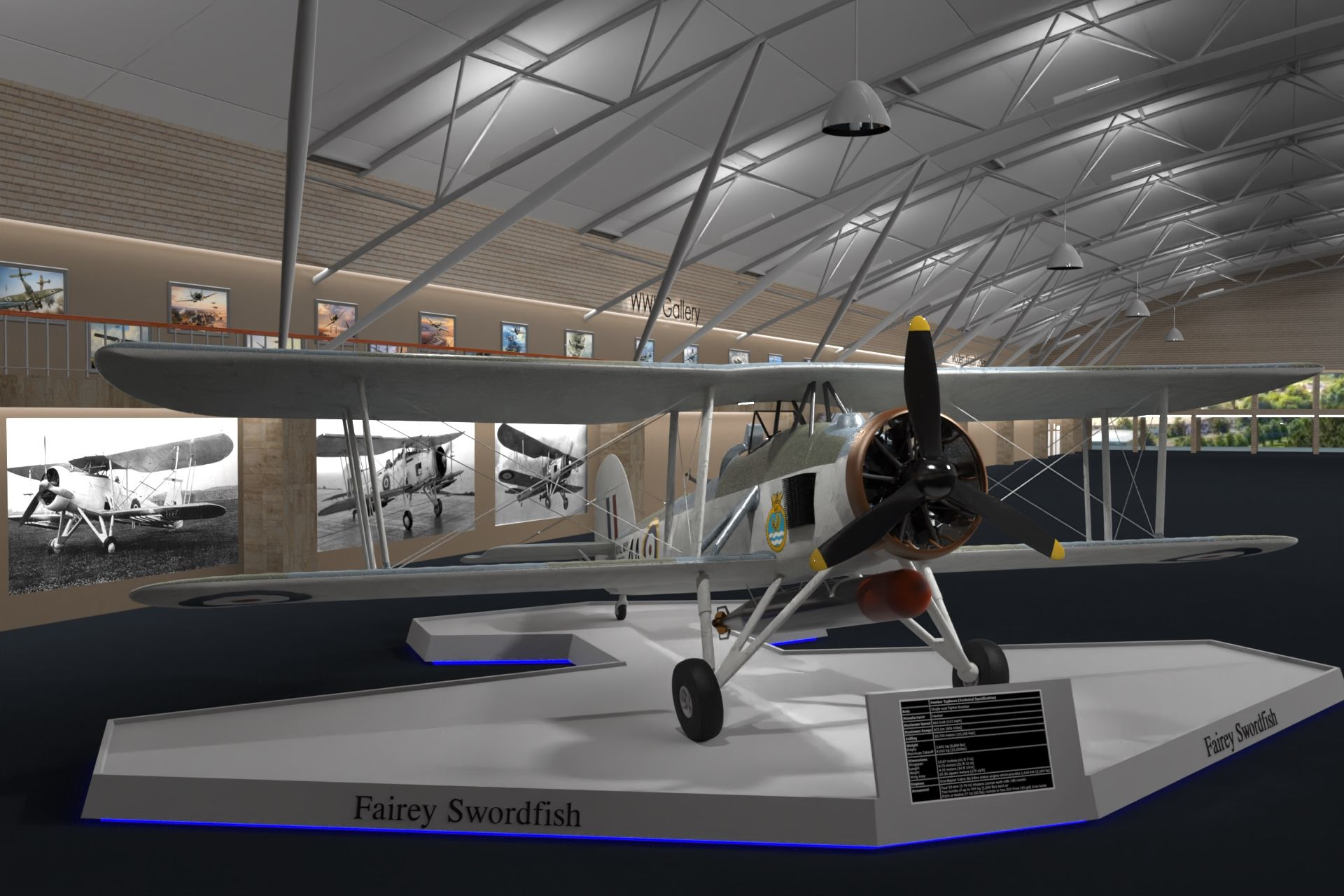 Fairey Swordfish Created Using SolidWorks And Rendered