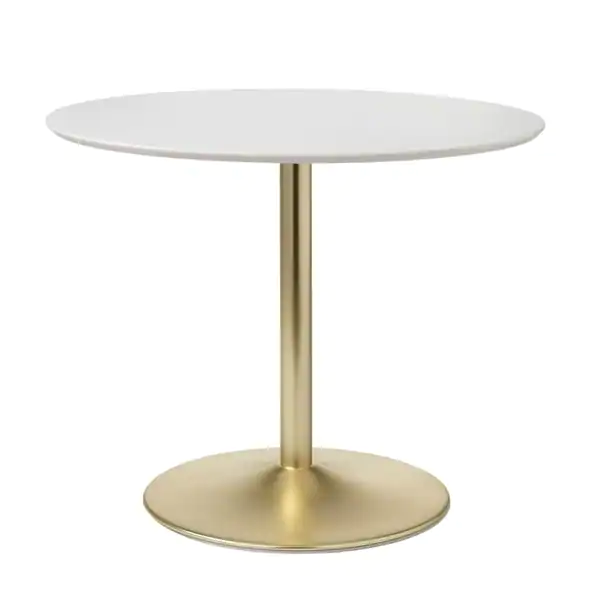 Carson Carrington Klemens Round Dining Table White Gold Dining