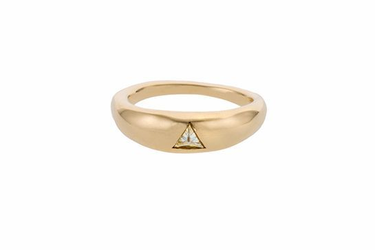 This powerful beauty by Lauren Wolf is the kind of ring you'll be happy to wear forever and ever. #refinery29 http://www.refinery29.com/engagement-ring-shopping-san-francisco#slide-13