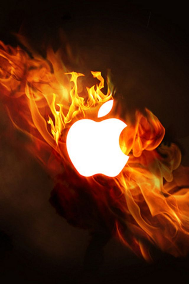 Wallpaper for iPhone Apple Fire | Apple, Lightning & Fire ...