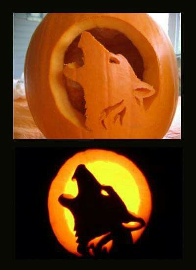 Wolf jack o lantern wolves amazing pumpkin carving halloween