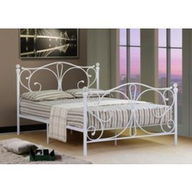 Tesco Direct Comfy Living 4ft6 Double Crystal Finial Metal Bed