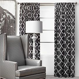 Wanting And Loving These Curtains For My Black And White Living Room