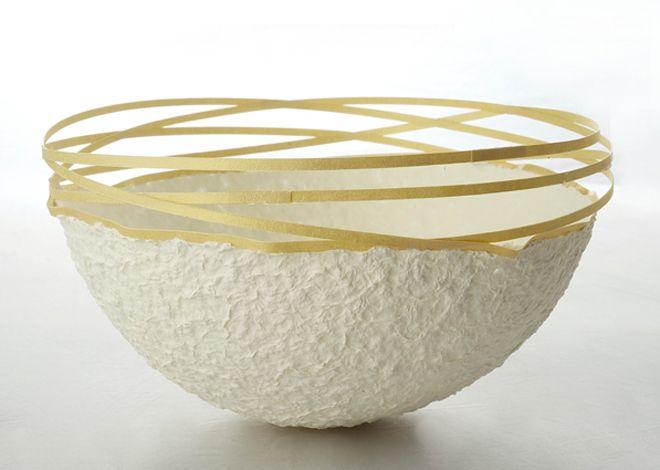 Traudl Stahl - Goldfinger - Papier und Goldpapier 2011