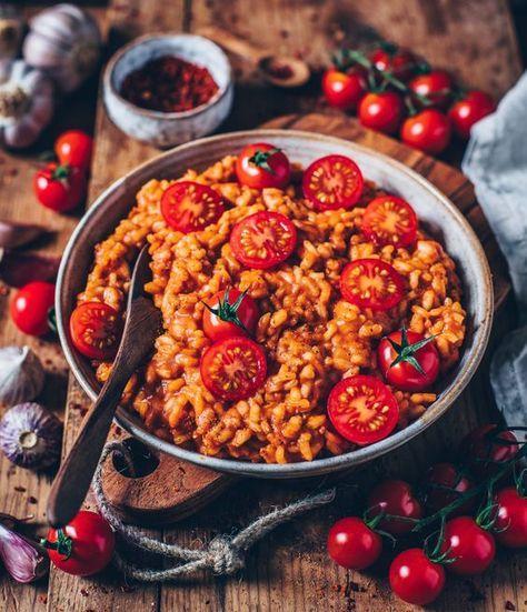 Cremiges veganes Tomaten-Risotto - Bianca Zapatka   Rezepte