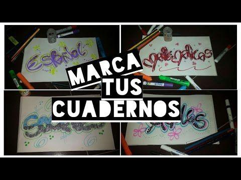 Marca tus cuadernos♡ - YouTube