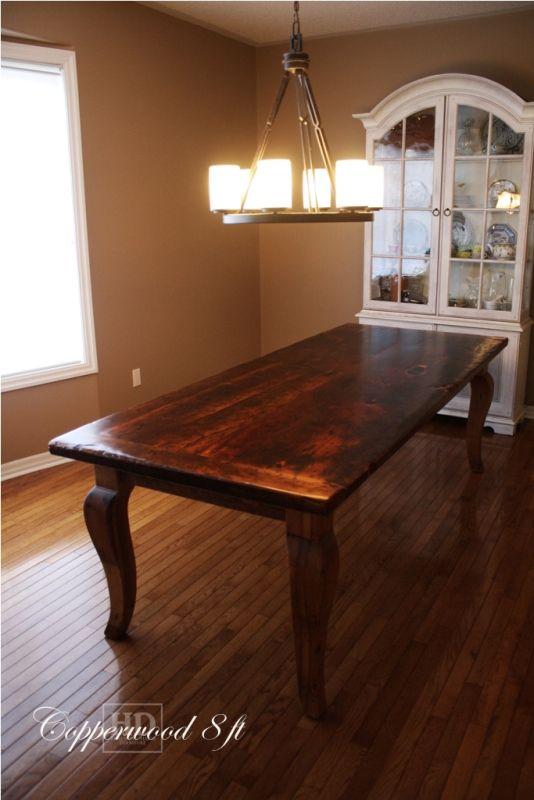 Reclaimed Wood Harvest Table with epoxypolyurethane finish