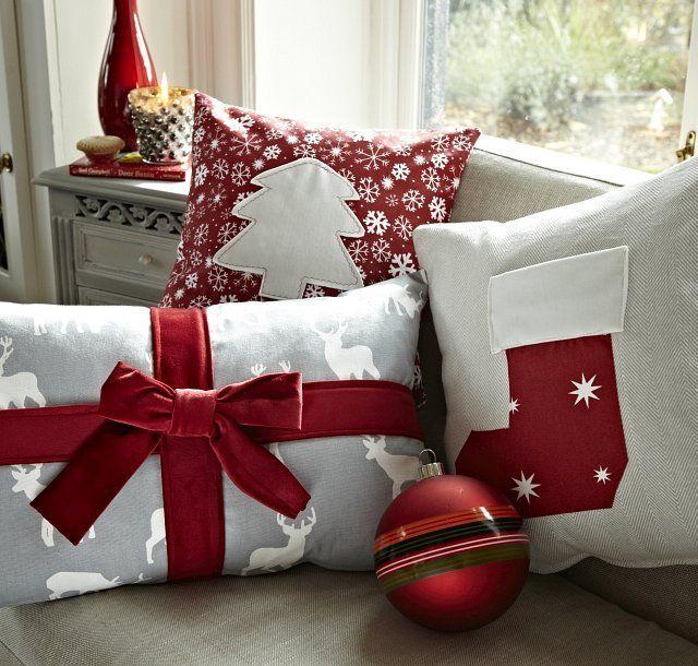 Ideas de cojines navideños para decorar