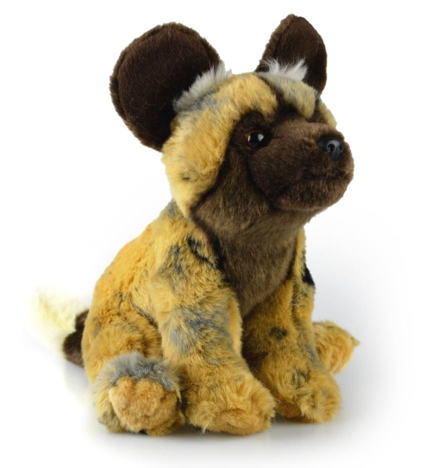 New Wild Korimco Sitting African Wild Painted Hunting Dog Soft Toy