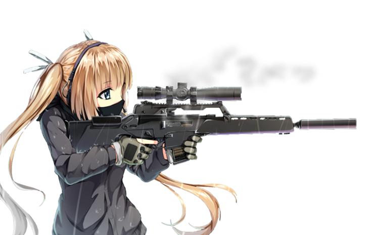 Anime Sniper Penembak Jitu Gadis Manga Gadis Animasi
