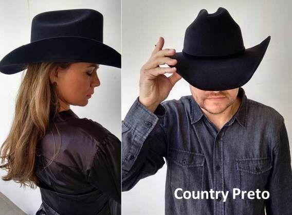 1ab16640ddc52 Chapéu Country Cowboy Feminino E Masculino