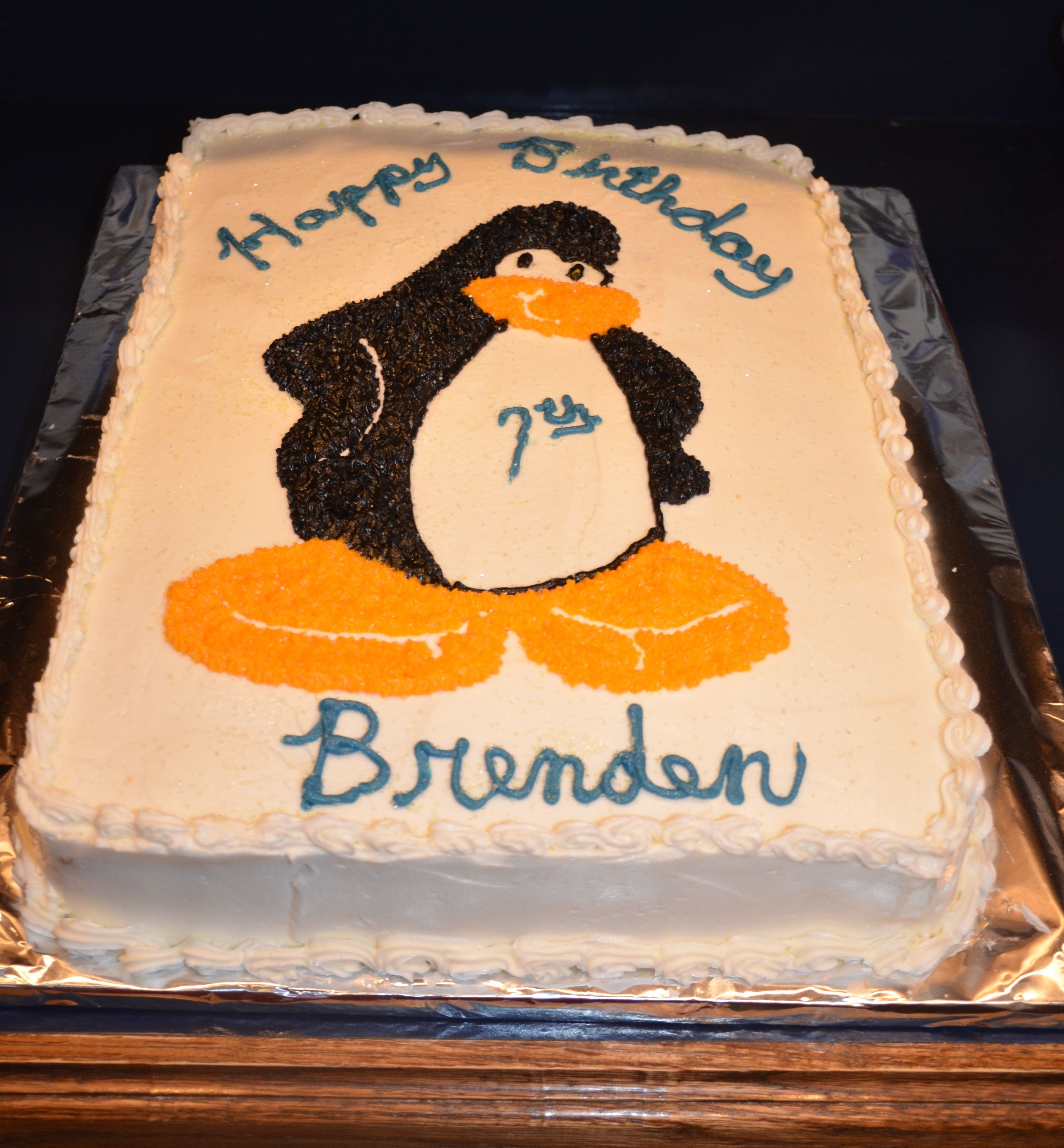 Brendens Club Penguin Cake 42614 Photo by Cathy Pfaff Mahnke