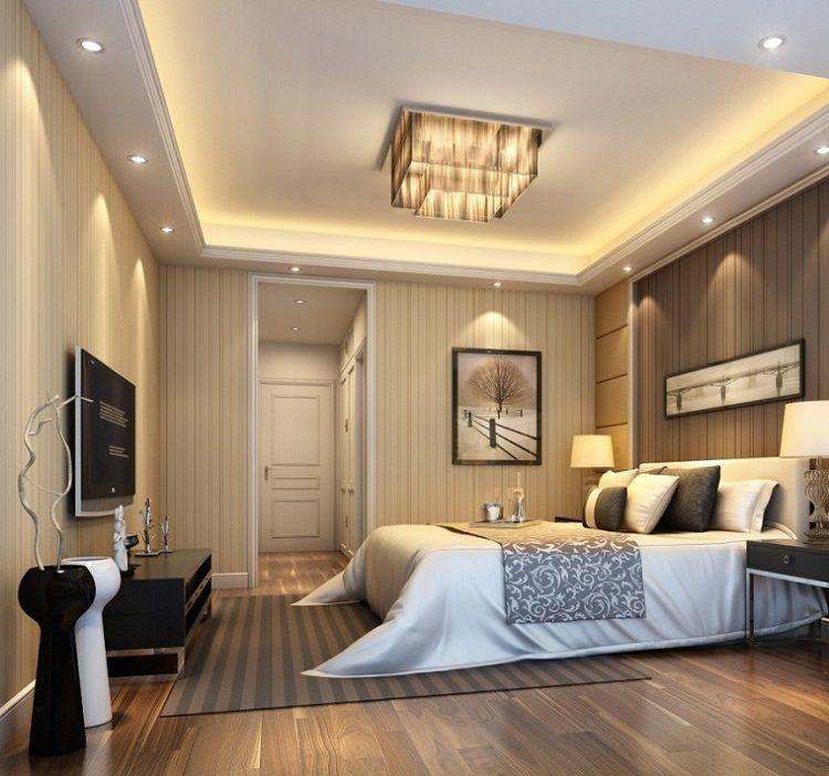 Techos modernos con luces Led integradas - 50 ideas habitacion de - Techos Interiores Con Luces