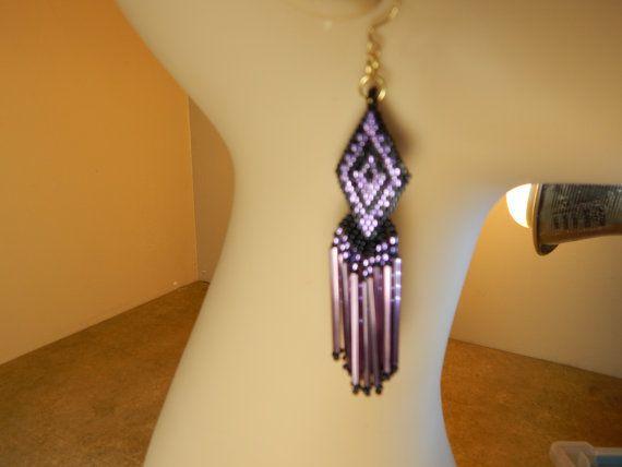 Beading4Bling dangle diamond-shaped earrings