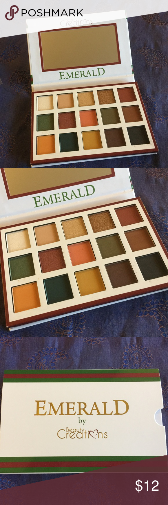 Emerald by Beauty Creations Eye Shadow Palette 15 Gorgeous fall and winter colors, from neutral to deep to bold and sparkly – greens, browns, peach, m…