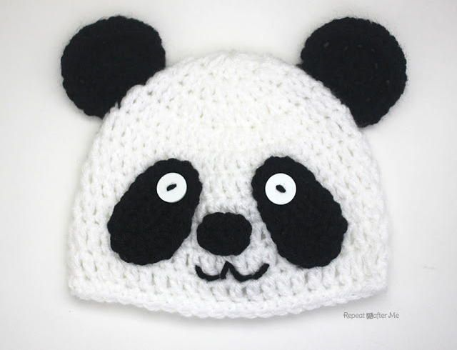 Easy Crochet Panda Hat | Crochet | Pinterest | Crochet hats, Crochet ...