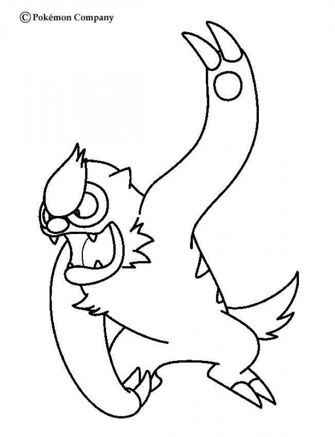 Vigoroth Pokemon Coloring Page More Pokemon Coloring Sheets On