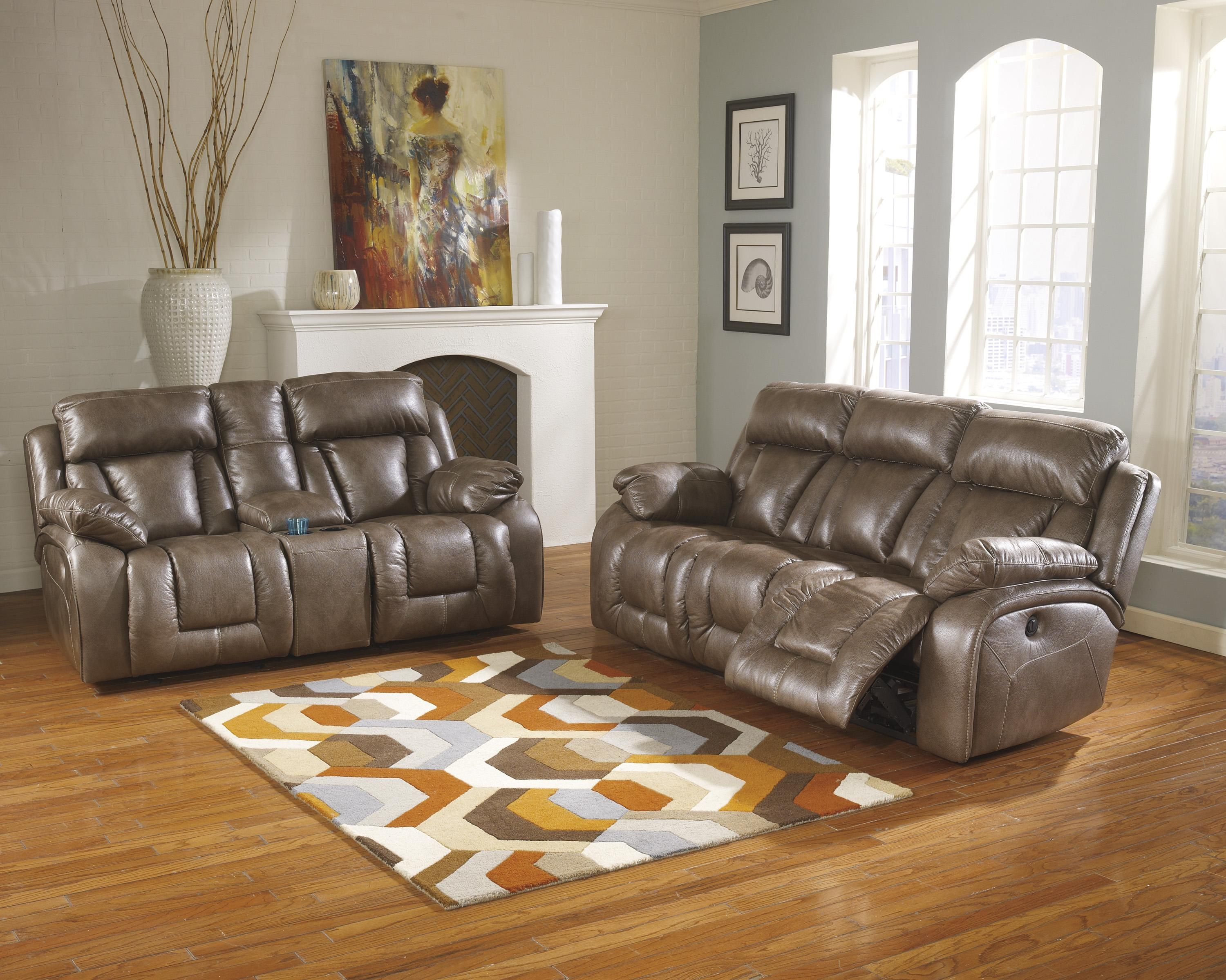 Loral Sable Reclining Living Room Group By Ashley Furniture