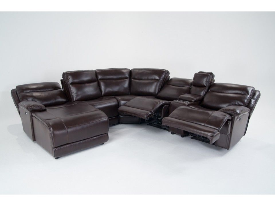 Power Reclining 6 Piece Right Arm Facing Sectional With Bob-O-Pedic Memory Foam : memory foam sectional sofa - Sectionals, Sofas & Couches