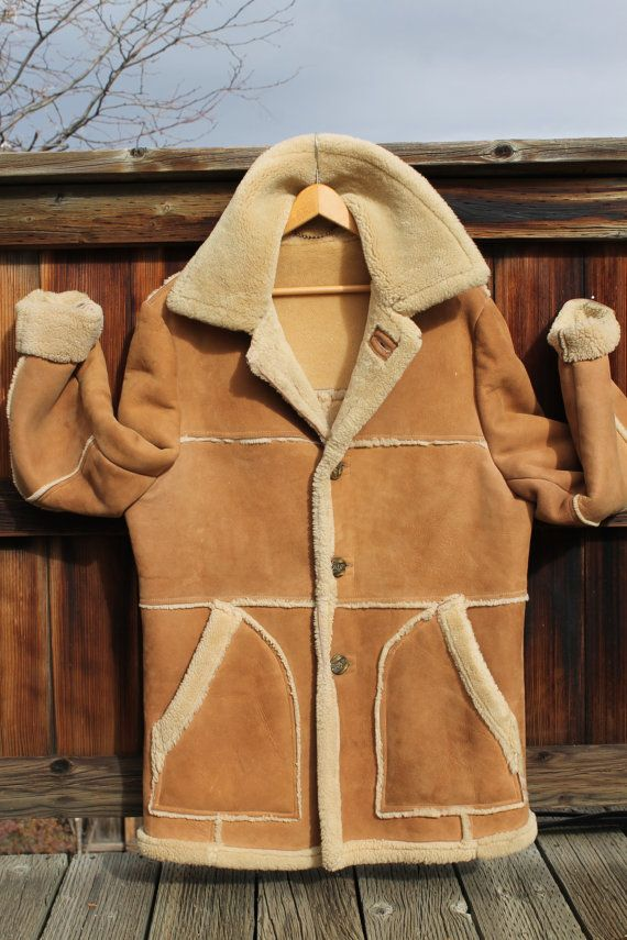 Vintage Men's Shearling Marlboro Man Coat by Lakeland size 44 ...