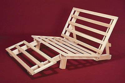 Futon Frame Solid Wood New Tri Fold Lounger Bed Full Size