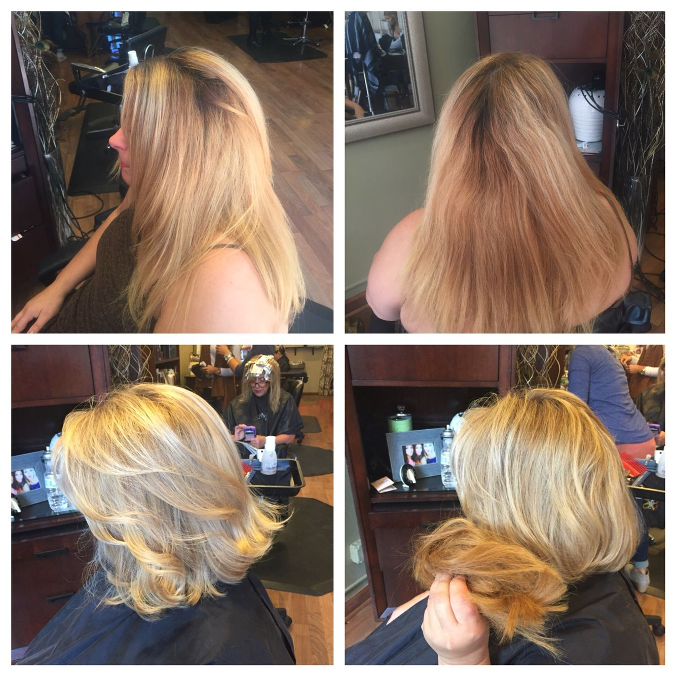 Home brassy color with highlights transformed to this awesome blonde ...