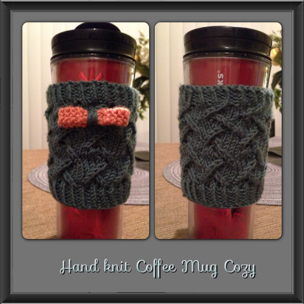 Dress up your coffee mug with a little cozy.