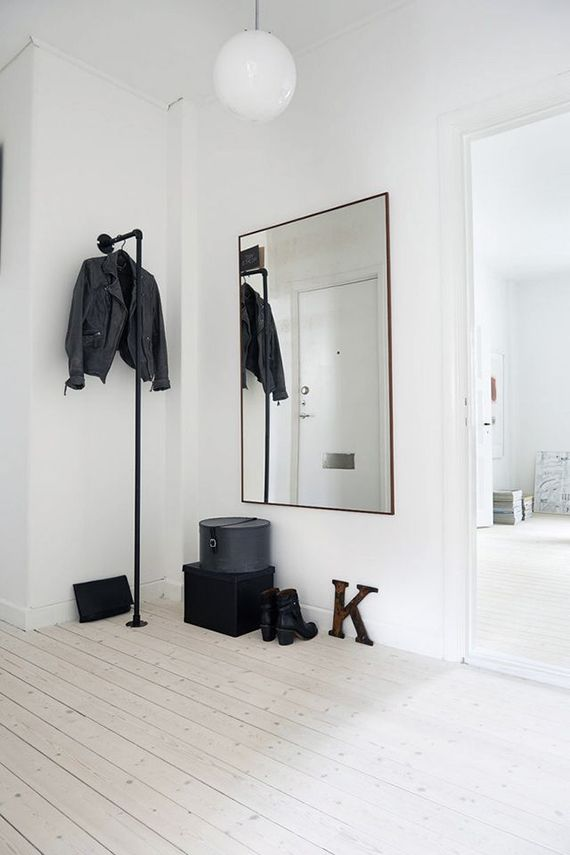 Scandinavian inspired entryway Weniger ist mehr, Skandinavien - wohnideen und mehr