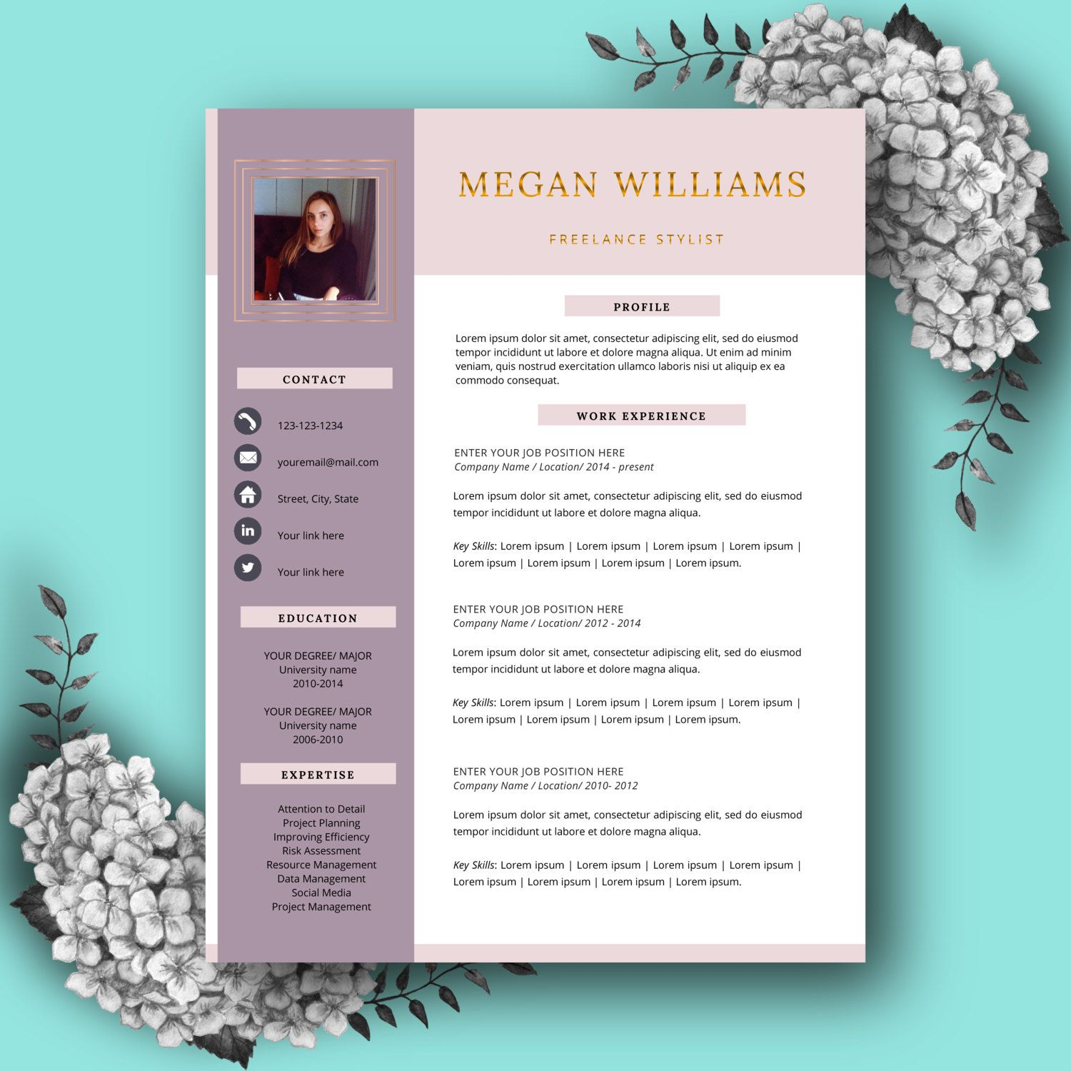 Creative Resume Template  Cv Template For Ms Word Printable